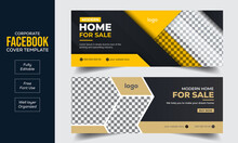 Set Of Real Estate Facebook Cover Banner Template Design, Modern Abstract Flat Corporate Real Estate Construction Facebook Cover, Banner, Social Media Post, Timeline Cover, Web Banner, Template Design