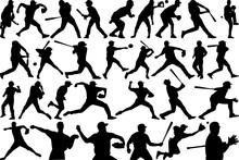 Baseball Player SVG Cut Files | Sports Svg | Softball Svg | Baseball Silhouette Bundle