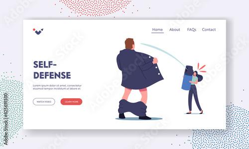 Fotografia, Obraz Self-Defense Landing Page Template