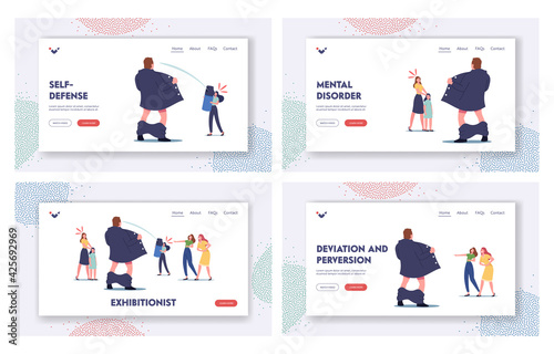 Canvas Print Exhibitionist Landing Page Template Set