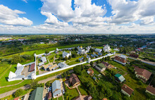 Suzdal, Russia. Holy Protection Convent Of The City Of Suzdal. Aerial View
