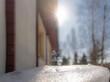 Zima, wiosna, słońce, śnieg