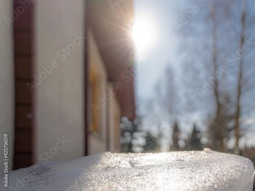 Fototapeta Zima, wiosna, słońce, śnieg obraz