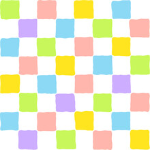 Colorful Pastel Squares Grid Background Seamless Pattern Wrapping Checkered Pattern Minimalistic Multicolor Graphic Random Blocks Rainbow Mosaic Wallpaper Cubic