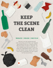 Keep The Scene Clean Poster For Go Zero Waste