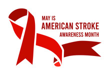 American Stroke Awareness Month. Vector Illustration