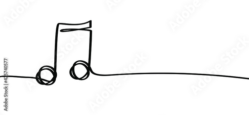 Fotografering Musical notes line symbol icon for staff and music note theme transparent backgr