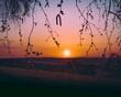 Ausblick vom Fernblick in Freigericht-Neuses bei Sonnenuntergang