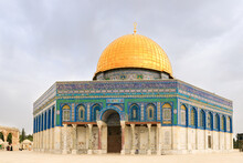 The Dome  Of The Rock Mosque On The Temple Mount In The Old Town Of Jerusalem In Israel