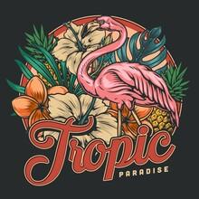 Tropical Vintage Colorful Print
