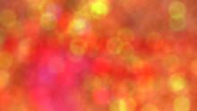 Warm Orange Bokeh Effect Background