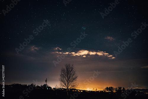 Fototapeta Noc, gwiazdy, małopolska,  obraz