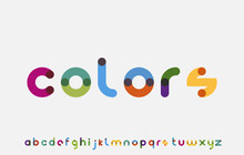 Colorful Calligraphy Alphabet Small Lettering A To Z Font Family