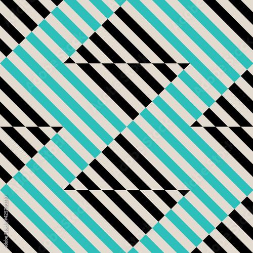 Obraz na plátne Seamless abstract pattern in constructivism soviet style