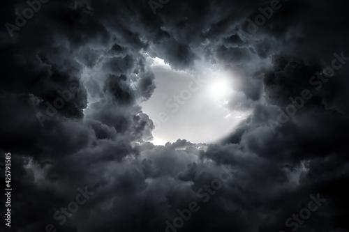 Obraz na plátně Dark Storm Clouds