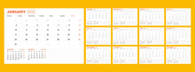 Calendar Template For 2022 Year. Business Planner. Stationery Design. Week Starts On Monday.