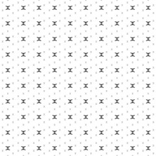 Square Seamless Background Pattern From Black Zodiac Gemini Symbols Are Different Sizes And Opacity. The Pattern Is Evenly Filled. Vector Illustration On White Background