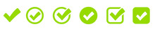 Check Mark Set Icon. Simple Web Buttons. Checkmarks And Confirm. Round Checkmark.