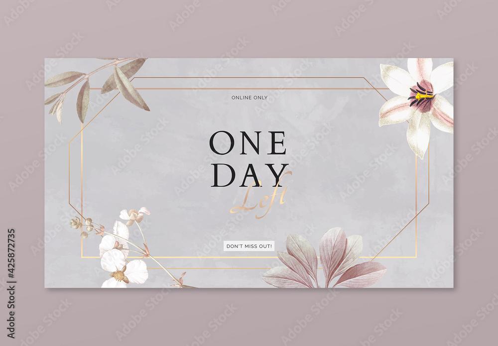 Fototapeta Floral Frame Advertisement Banner Design
