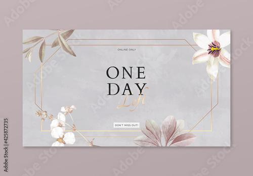 Floral Frame Advertisement Banner Design