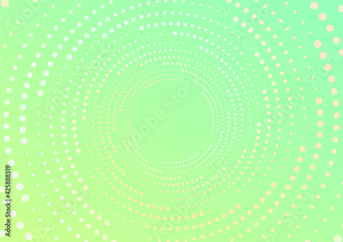 Foto Spiral dots on gradient background. Vector illustration.