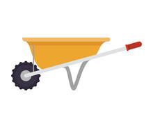 Yellow Wheelbarrow Icon