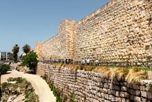 Jerusalem Old City Walls Near Jaffa Gate