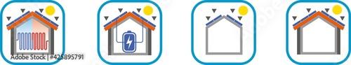 Photo Icone installazione pannelli Solari Fotovoltaico e batterie di accumulo lavori