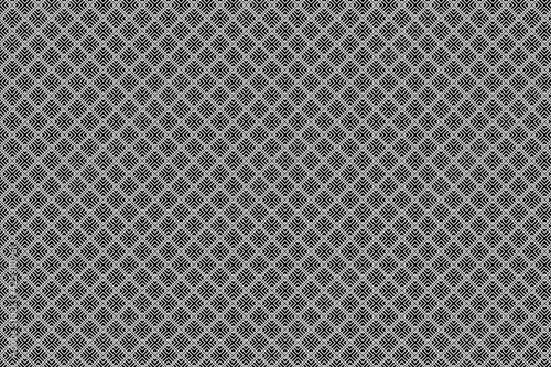 Fotografiet Patrón de ángulos rectos y cruces negras formando cuadrsdos con fondo blanco y b