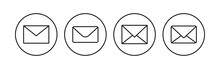 Mail Icon Set. Email Icon Vector. E-mail Icon. Envelope Illustration