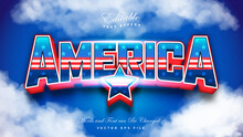 American Flag Text Effect