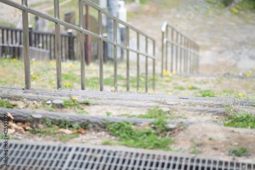 鴻巣 荒川パノラマ公園 手摺 Fototapet