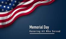 Memorial Day Background Design. Vector Illustration.