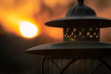 Lamp In Sunset
