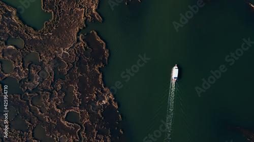 Fotografie, Obraz aerial view of Iztuzu beach and Dalyan river delta, Turkey