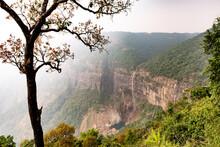 Nohkalikai Waterfall In MEghalaya, India. 1000 Feet Drop.