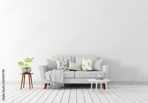 Slika na platnu 3d illustration, Interior pictures where you can display wall products