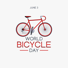 Vector Graphic Of World Bicycle Day Good For World Bicycle Day Celebration. Flat Design. Flyer Design.flat Illustration.