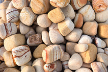 Marble Pebbles For Decor Or Landscaping. Close Up