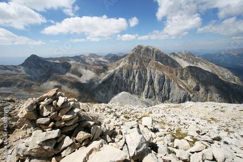 Fototapeta montagna italiana abruzzo gran sasso veduta sentieri lago