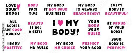 Stampa su Tela Body positive quotes