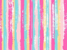Uneven Ink Hatch Vertical Lines Textile Pattern.