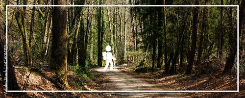 Fototapeta Ressources graphiques, illustration pour une communication liée à l'exploration, l'aventure, road trip obraz