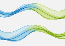 Abstract Wave Design Element Blue And Green Wave Flow Background Wave Flow Set