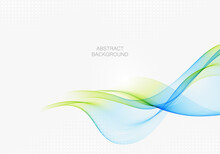 Abstract Wave Design Element Blue And Green Wave Flow Background