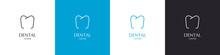 Dentist Center Logos Set. Tooth Logo. Dental Treatment. Vector Illustration