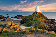 "Llanddwyn (Tŵr Mawr, Meaning ""great Tower"" In Welsh) Lighthouse On Anglesey, Wales"