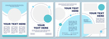 Modern Cyan Brochure Template. Flyer, Booklet, Leaflet Print, Cover Design With Copy Space. Colorful Presentation. Vector Layouts For Magazines, Annual Reports, Advertising Posters