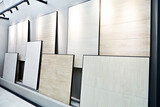 Ceramic tile collection in hardware store