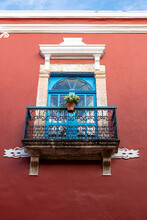 Colonial Buildings, The Historic Fortified Town Of Campeche, UNESCO World Heritage Site, Campeche, Mexico